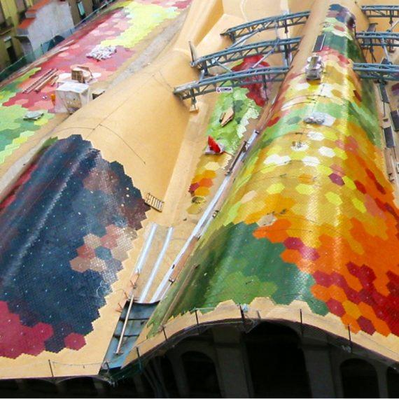 Impermeabilización del Mercado de Santa Caterina